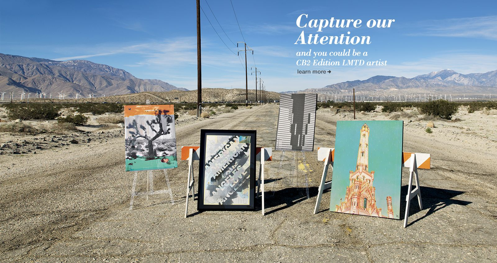 Capture our Attention You could be a CB2 LMTD artist by posting an image on Instagram