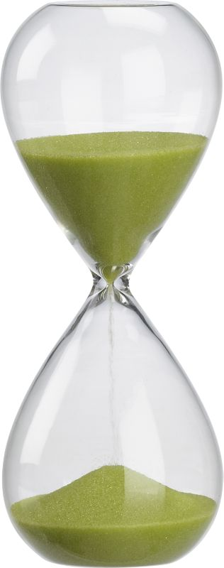 15-minute green hour glass