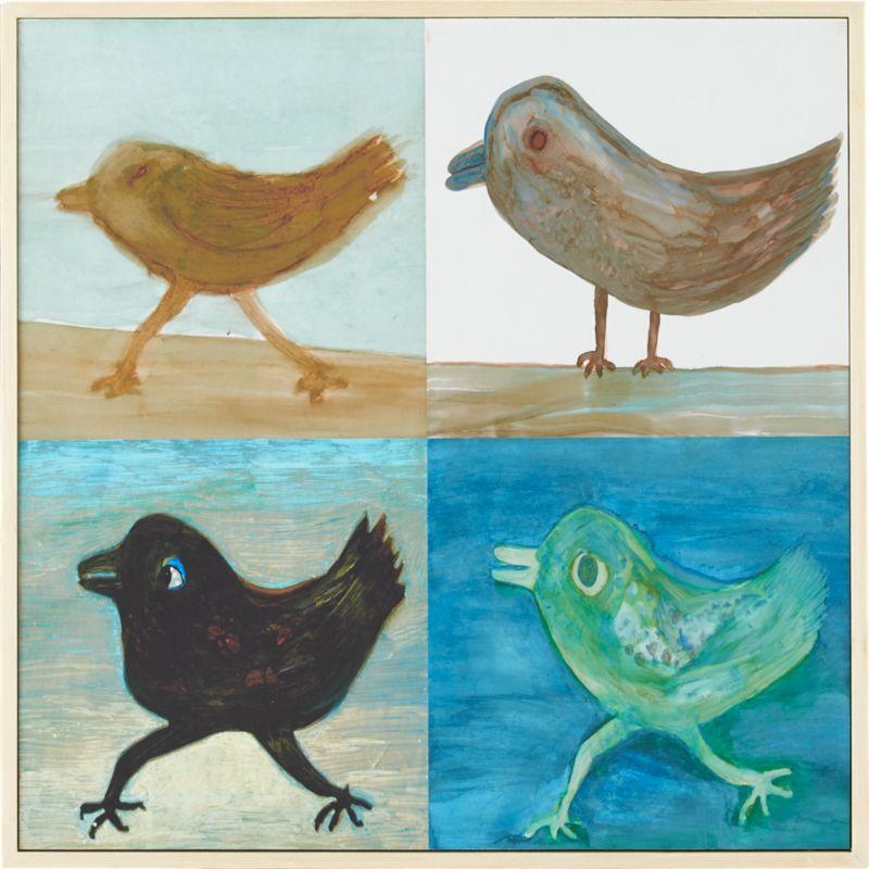 four birds print