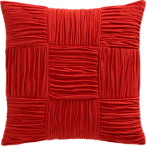 9 square burnt orange 18&quot; pillow