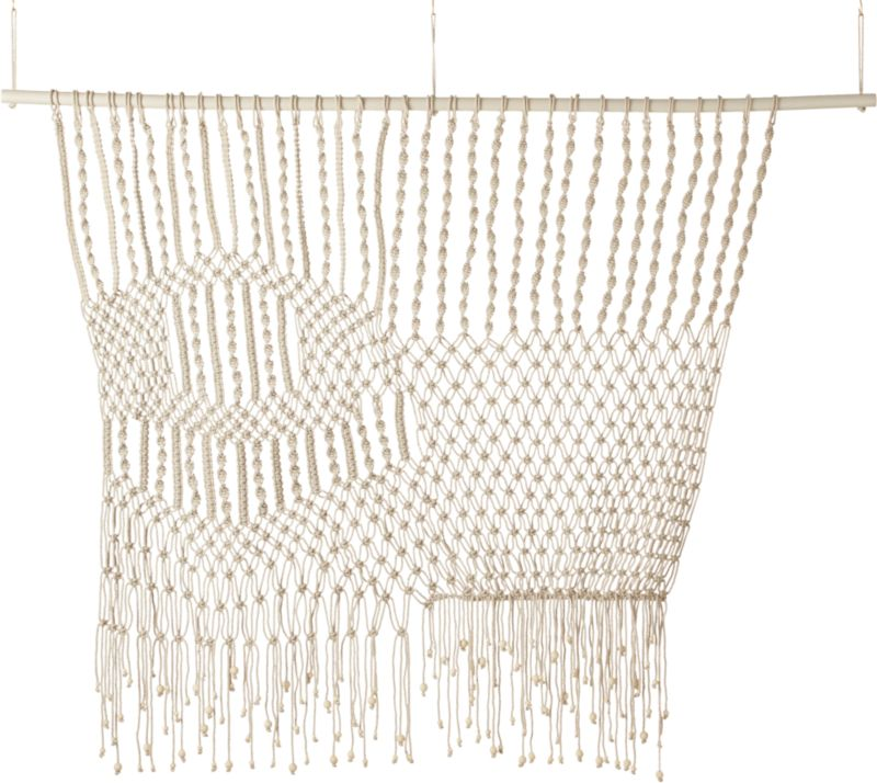 tangled web macramé wall hanging