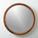 """acacia wood 24"""" mirror"""