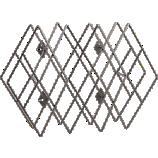 accordian wall-mounted wine rack