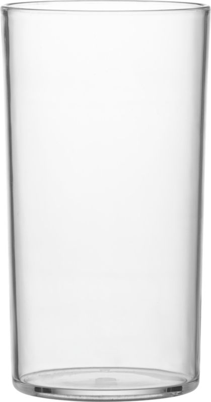 "<span class=""copyHeader"">big gulp.</span> Glass-like glass opens wide, parties hard (really, it's practically indestructible) in clear acrylic.<br /><br /><NEWTAG/><ul><li>Acrylic</li><li>Hand wash</li></ul>"