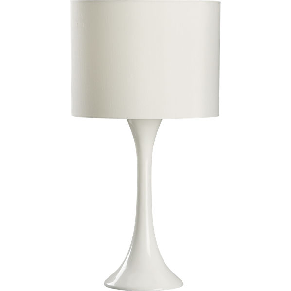 White Table Lamps : ada white table lamp  CB2