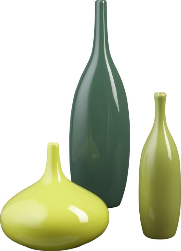 3-piece amigos vase set