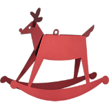 anodized reindeer ornament