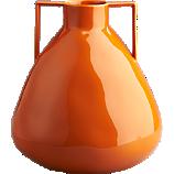 ansa orange vase