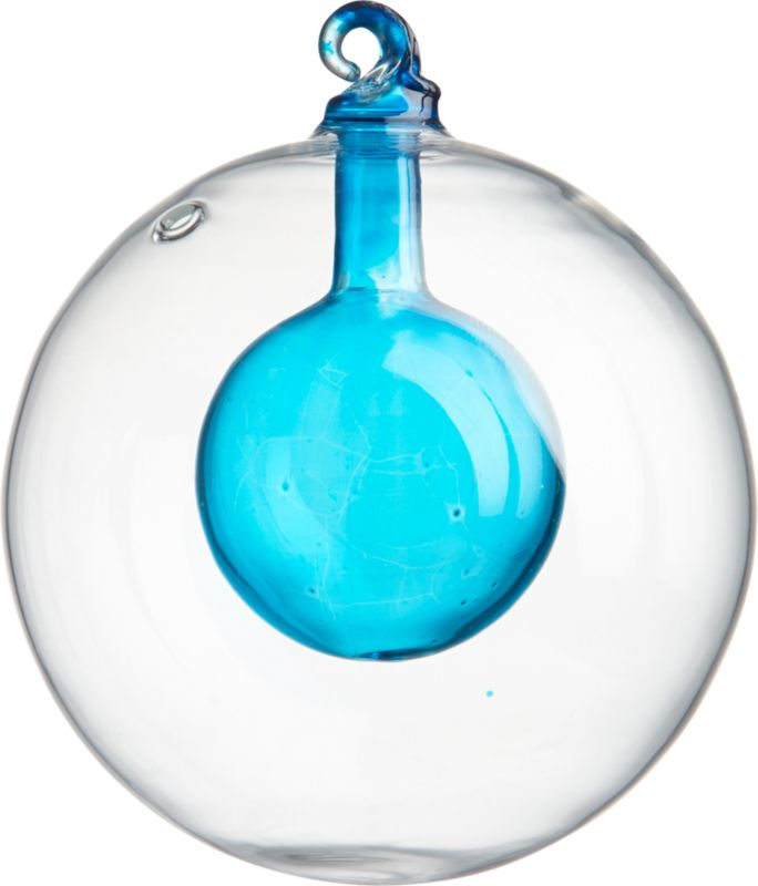 aqua bulb ornament