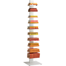 array white bookcase
