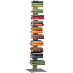 array silver bookcase