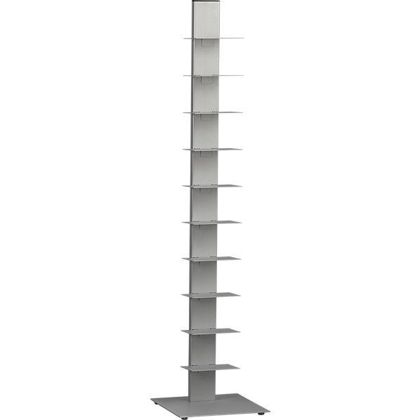 Array silver bookcase cb2 for Furniture 99 invisible