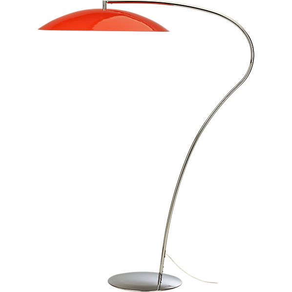 Atomic lobster arc floor lamp cb2 for Cb2 orange floor lamp