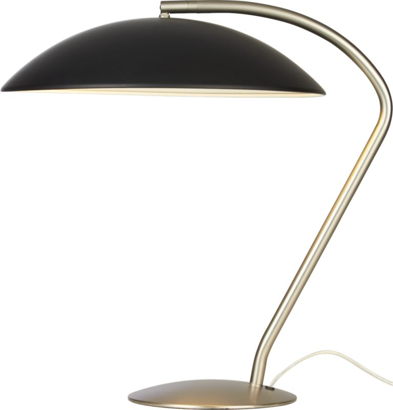 atomic matte black table lamp