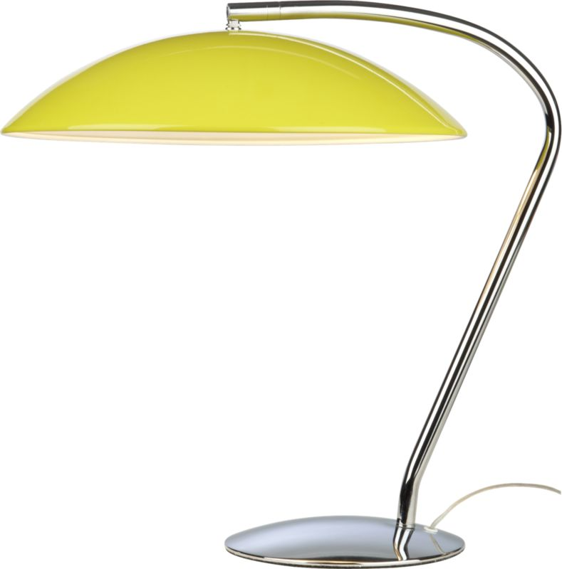 atomic yellow table lamp
