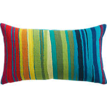 "bander multi-stripe 20""x12"" pillow"