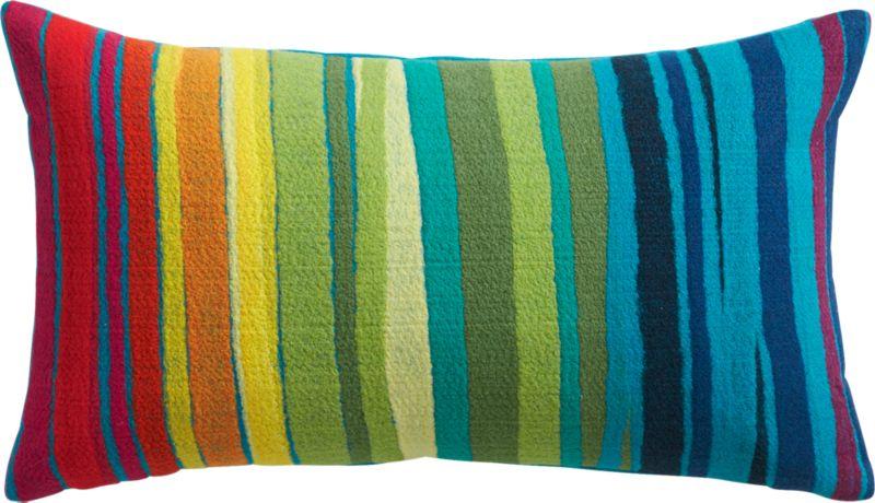 "bander multi-stripe 20""x12"" outdoor pillow"