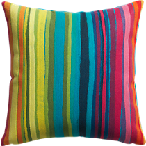 "bander multi-stripe 20"" pillow"