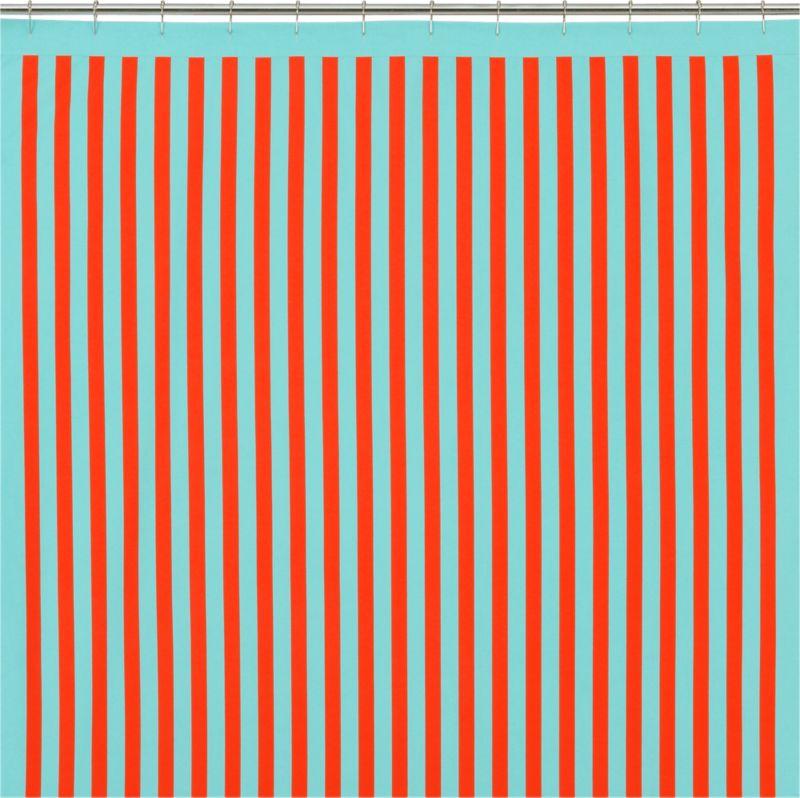 barque striped shower curtain
