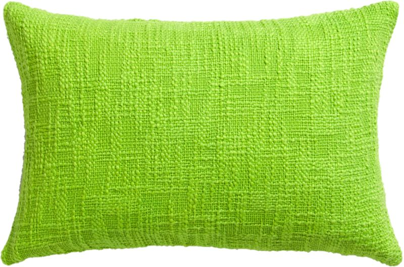 "basis bright green 18""x12"" pillow"