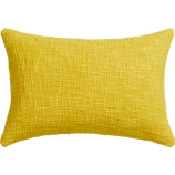 "basis citrine 18""x12"" pillow with down-alternative insert"