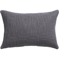 "basis grey 18""x12"" pillow"