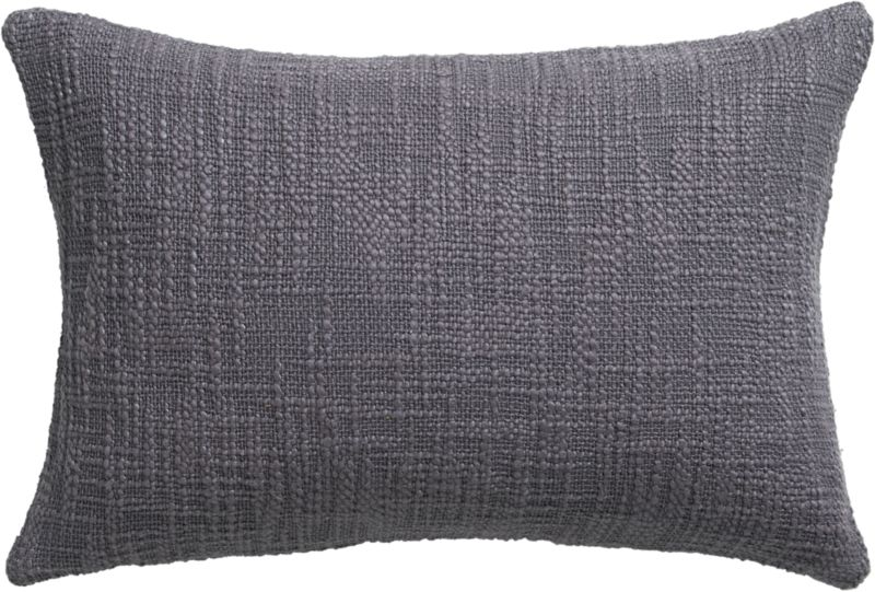 "basis grey 18""x12"" pillow with fe"