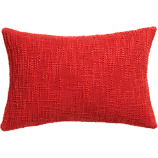 "basis red 18""x12"" pillow"
