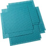 set of eight basketweave aqua placemats
