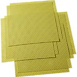 set of eight basketweave chartreuse placemats