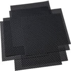 set of eight basketweave carbon placemats.