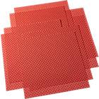 set of eight basketweave hot orange placemats.