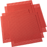 set of eight basketweave hot orange placemats