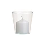 beaker glass candle holder