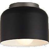 bell black flush mount lamp