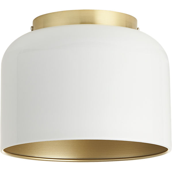Bell White Flush Mount Lamp Cb2
