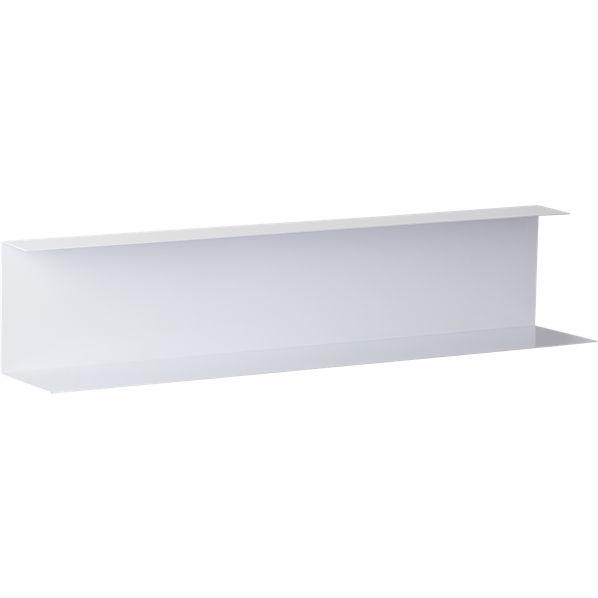 Bent Metal White Wall Shelf