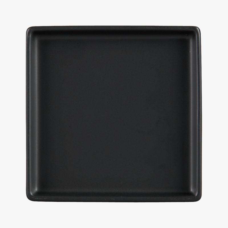 Bento Matte Black Appetizer Plate Cb2