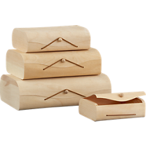 birch storage boxes set of four