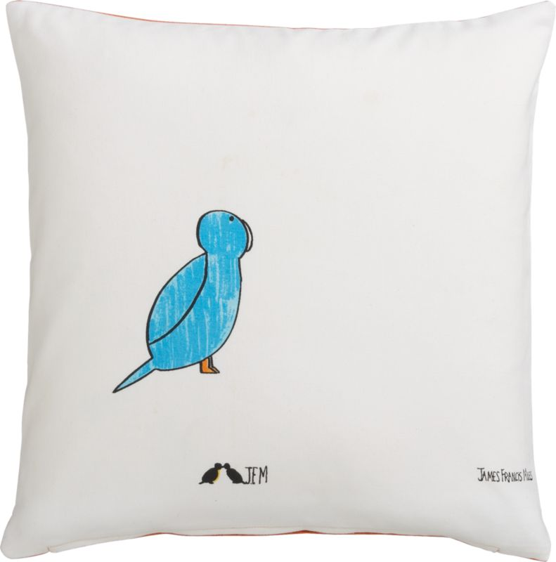 "blue bird 16"" pillow"