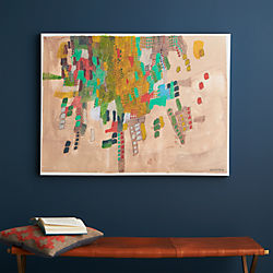 birds eye city view print