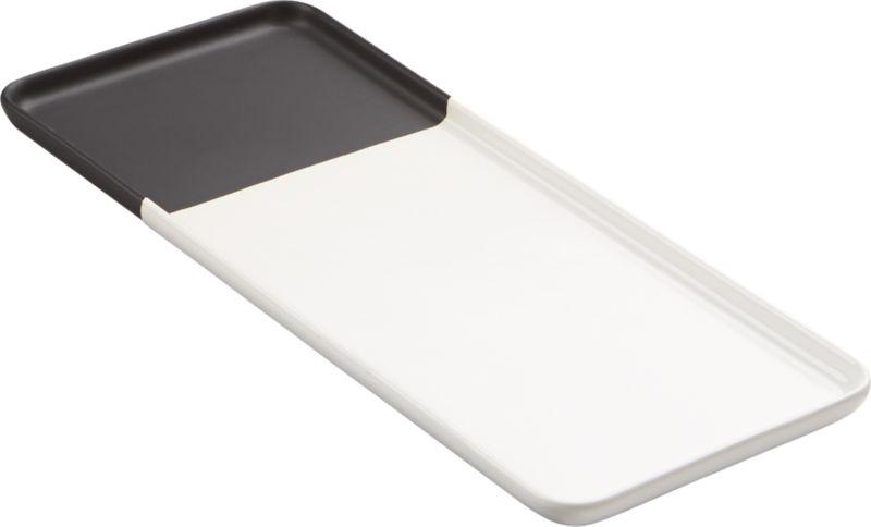 black dip platter