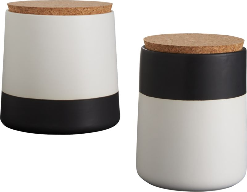 dip black and white large canister cb2 dip black and white canisters cb2