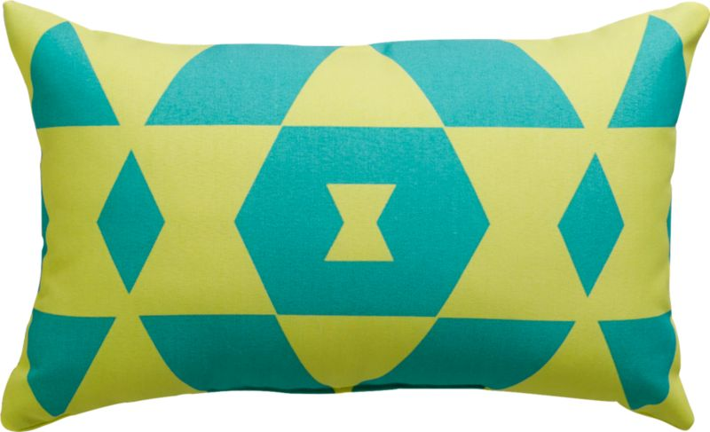 "bleu monday 20""x12"" outdoor pillow"