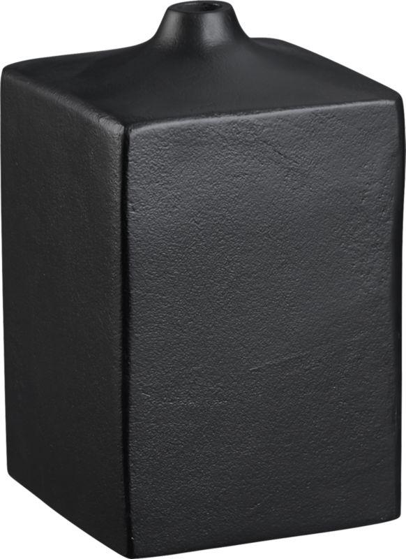 block black vase