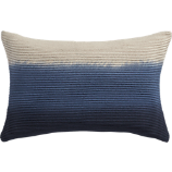 "blue azure 18""x12"" pillow with down-alternative insert"