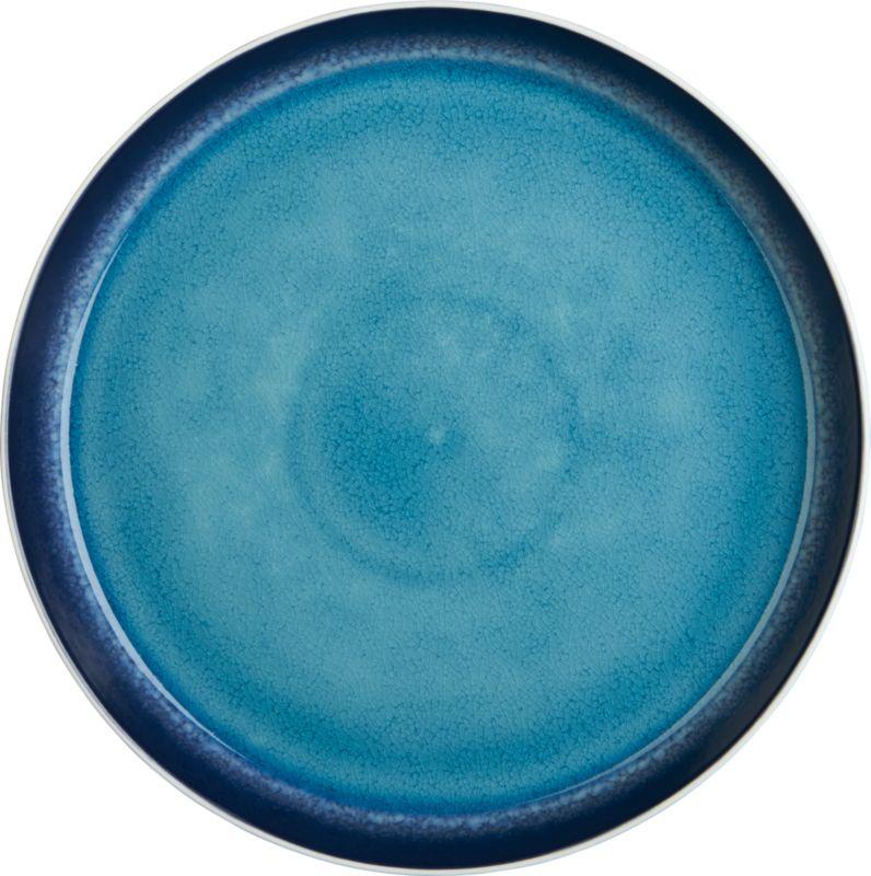 blue line dinner plate