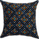 "boiled wool diamonds 18"" pillow with feather-down insert"