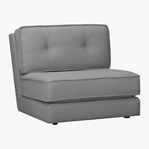 botao grey armless sectional chair
