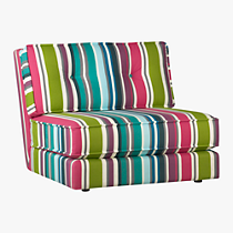 botao stripe armless sectional chair